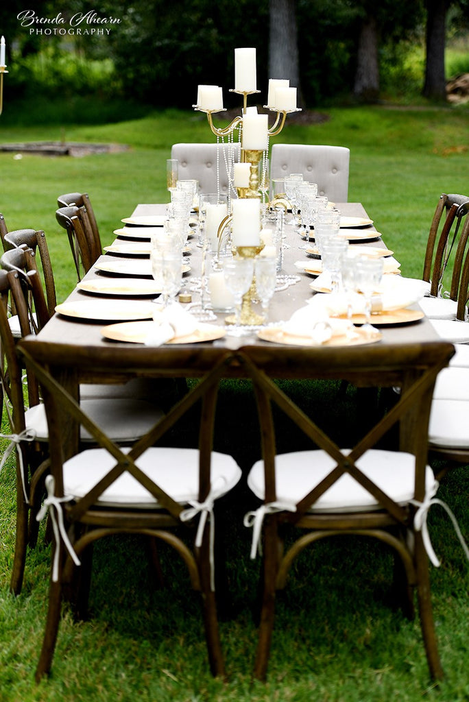 Elegance at the ranch wedding.  (Photgraphy by Brenda Ahearn)
