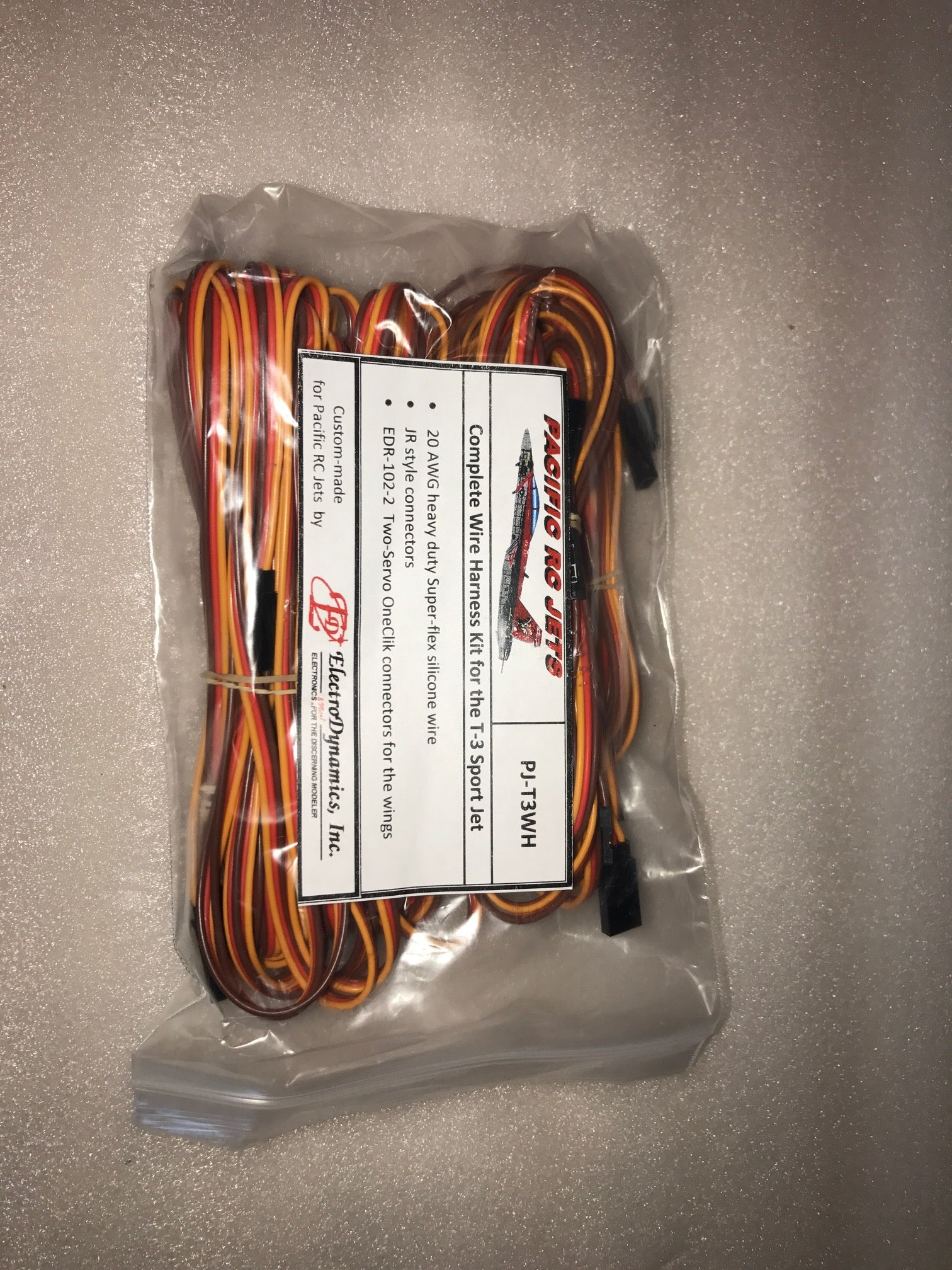 t 3 wire harness kit pacific rc jets rh pacificrcjets com Painless Wiring Harness Kit Hot Rod Wiring Harness Kits