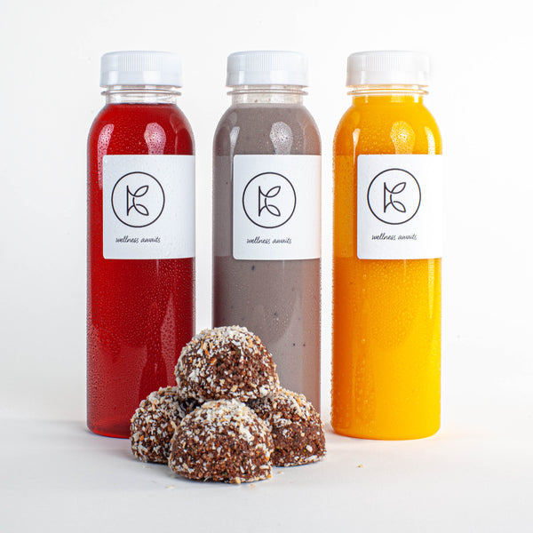 Fresh-pressed juices and protein truffles - Kooshi Gourmet Los Angeles Meal Delivery