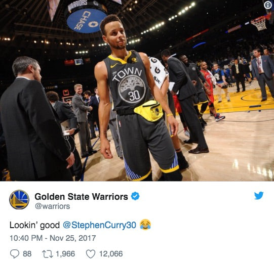 Steph Curry Joins the Fanny Pack Crew