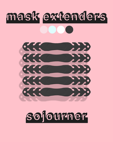 Mask ear savers / extenders graphic photo