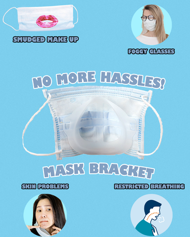 Problems mask bracket solves (graphic photo)