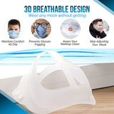 (10 Pack) Silicone 3D Face Mask Bracket Insert | Plastic Mask Guard Frame for Inner Support, Breathing Space, Comfort - Washable & Reusable