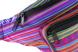 Woven Boho Festival Fanny Pack (pink) - SoJourner Bags - zoom
