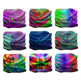 Fanny Pack 9PCS Psychedelic - Seamless Mask Bandana Headband - SoJourner Bags