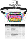 Fanny Pack Rainbow Rave Triangles Fanny Pack - SoJourner Bags