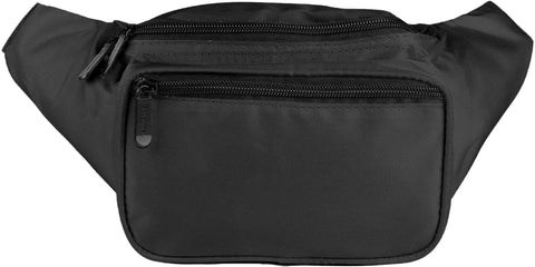 Fanny Pack Solid Color Fanny Pack (Black) - SoJourner Bags