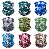 9PCS Seamless Bandanas Face Mask Headband Scarf Headwrap Neckwarmer & More – 12-in-1 Multifunctional for Music Festivals, Raves, Riding, Outdoors (Camo 1)