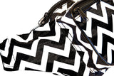 Fanny Pack Chevron Fanny Pack (Black and White) - SoJourner Bags