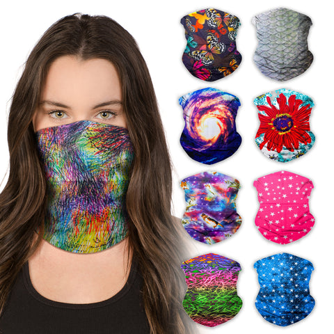 Neck Gaiter Face Mask Bandana Neck Gators Face Coverings for Men & Women I Neck Gator Masks Festival 3