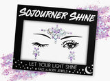 Fanny Pack Lavender Love Face Jewels Glitter Gems Rhinestones Eye Body Jewels Gems - SoJourner Bags