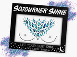 Fanny Pack Witching Woman Face Jewels Glitter Gems Rhinestones Eye Body Jewels Gems - SoJourner Bags