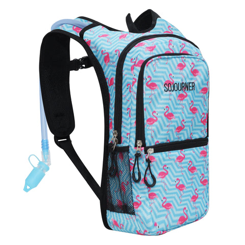 Medium Hydration Pack Backpack - 2L Water Bladder - Flamingo