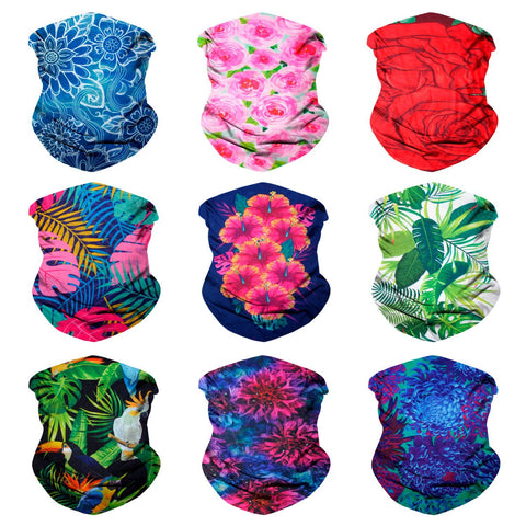 Fanny Pack 9PCS Floral Series 1 - Seamless Mask Bandana Headband - SoJourner Bags