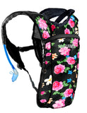 Hydration Pack Backpack - 2L Water Bladder - Floral Traditional