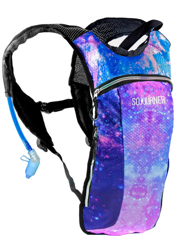 Hydration Pack Backpack - 2L Water Bladder - Galaxy