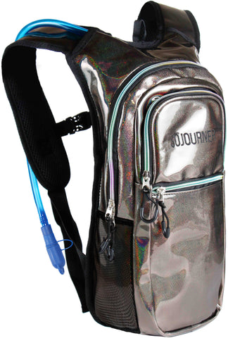 Medium Hydration Pack Backpack - 2L Water Bladder - Holographic Copper