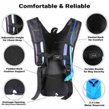 Hydration Pack Backpack - 2L Water Bladder - Iridescent Blue