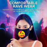 Face Mouth Mask - Cotton Face Covering (10 Pack - Emoji)