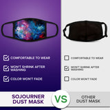 Face Mouth Mask - Cotton Face Covering (9 Pack - Galaxy)