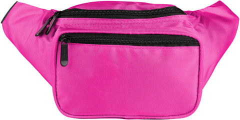Fanny Pack Solid Color Fanny Pack (Pink) - SoJourner Bags
