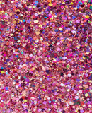 Fanny Pack Loose Chunky Cosmetic Holographic Body Glitter - Princess Pink - SoJourner Bags