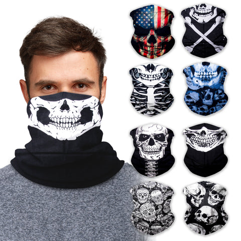Neck Gaiter Face Mask Bandana Neck Gators Face Coverings for Men & Women I Neck Gator Masks Skull 1