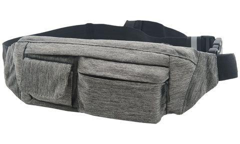 Fanny Pack 2-Pocket Gray Fanny Pack - SoJourner Bags