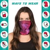 Neck Gaiter Face Mask Bandana Neck Gators Face Coverings for Men & Women I Neck Gator Masks Floral Series 1