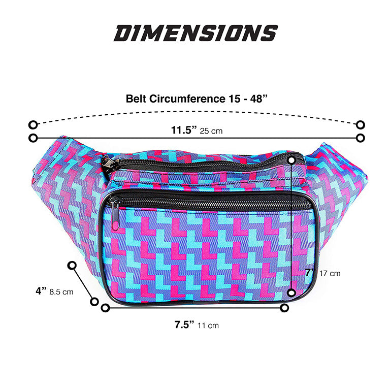 80's Neon Fanny Pack | SoJourner Bags