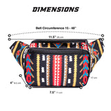 Fanny Pack Aztec Tribal Fanny Pack (Black) - SoJourner Bags