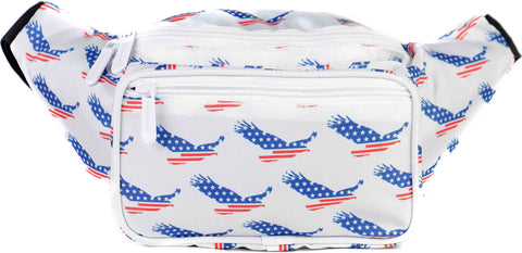 Fanny Pack American Eagle Print Fanny Pack - SoJourner Bags