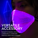 LED Light Up Mask - EDM Rave Masks for Men & Women - Glowing Lights Face Bandana - Party Costume Glow Mask - 7 Color Light Mask…