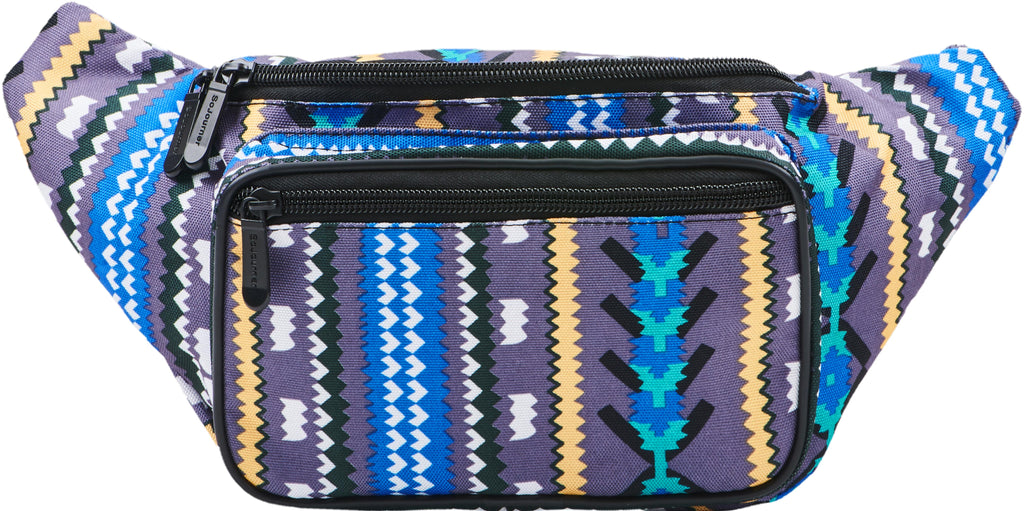 Fanny Pack Aztec Tribal Fanny Pack (Gray) - SoJourner Bags