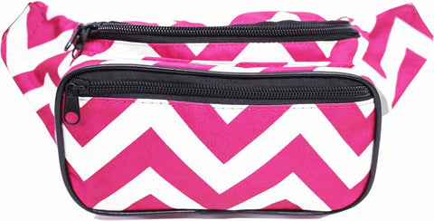 Magenta Chevron Fanny Pack - SoJourner Bags - front