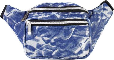 Fanny Pack 80's Vintage Retro Acid Wash Denim Fanny Pack - SoJourner Bags