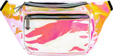 Fanny Pack Holographic White Pink Fanny Pack - SoJourner Bags