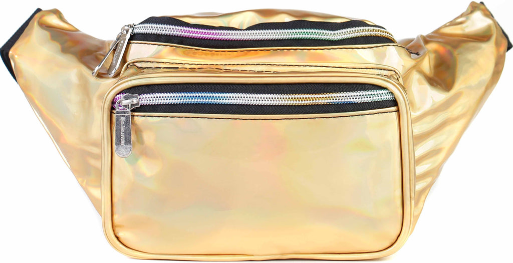 Fanny Pack Holographic Gold Fanny Pack - SoJourner Bags