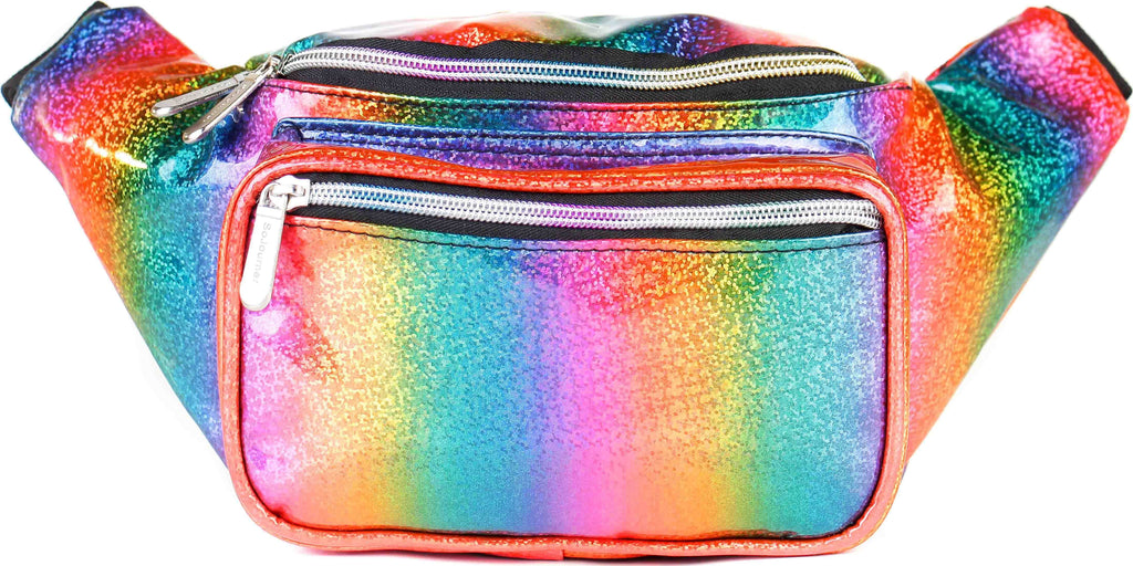 Fanny Pack Rainbow Glitter Fanny Pack - SoJourner Bags