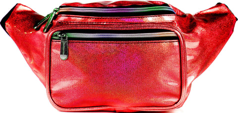 Fanny Pack Glitter Red Transparent Fanny Pack - SoJourner Bags