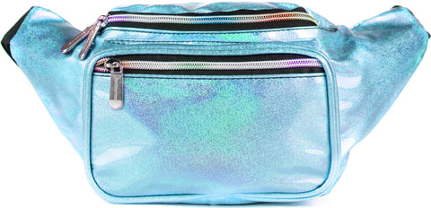 Fanny Pack Glitter Blue Fanny Pack - SoJourner Bags