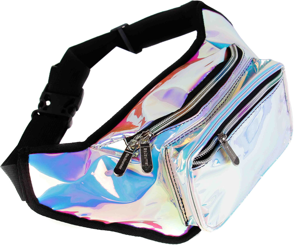 f70d771df8be Blue Iridescent Fanny Pack   SoJourner Bags