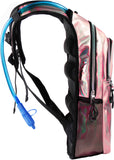 Fanny Pack Medium Hydration Pack Backpack - 2L Water Bladder - Holographic - Pink - SoJourner Bags