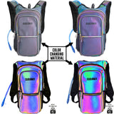 Medium Hydration Pack Backpack - 2L Water Bladder - Luminous - Green