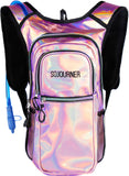 Medium Hydration Pack Backpack - 2L Water Bladder - Holographic - Pink