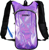 Fanny Pack Hydration Pack Backpack - 2L Water Bladder - Glitter Purple - SoJourner Bags