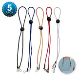 Mask Lanyards for Mask for Kids - Adjustable Lanyard with Clips (5 Pack- Multicolor)