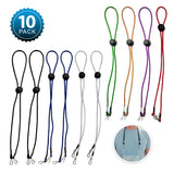 Mask Lanyards for Mask for Kids - Adjustable Lanyard with Clips (10 Pack- Multicolor)