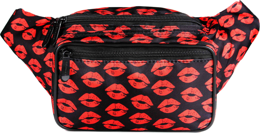 Fanny Pack Cute Red Lips Fanny Pack - SoJourner Bags