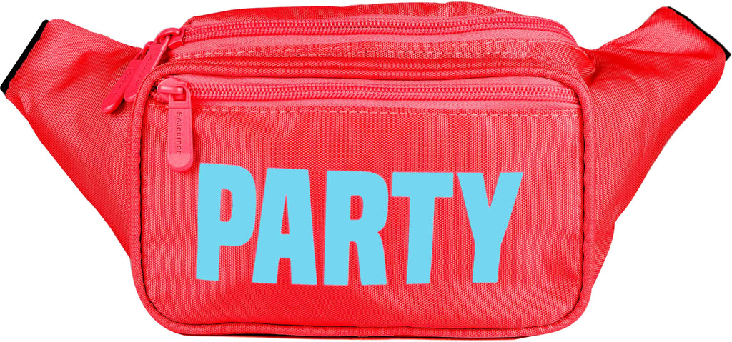 Fanny Pack Red Neon Party Fanny Pack - SoJourner Bags